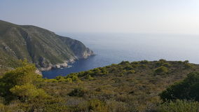 Awesome view from the top of hill, Zakynthos, Greece Royalty Free Stock Image
