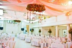 Awesome wedding hall. On restaurant royalty free stock photo