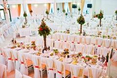 Awesome wedding hall Royalty Free Stock Photos