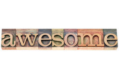 Awesome word typography Royalty Free Stock Image