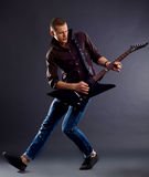 Awesomen guitar player Royalty Free Stock Photos
