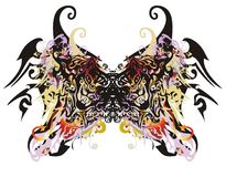Awful butterfly wings Stock Images