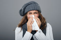 Awful flu Royalty Free Stock Photo