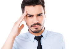 This awful headache. Stock Photos