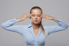 Awful headache Stock Photo