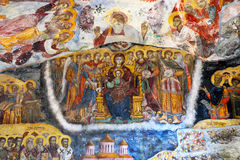 Awful repainted fresco, Sumela monastery Stock Photos