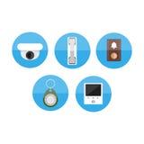Awiofon ikony płaski set Zdjęcie Stock