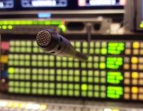 Awiofonu mikrofon Fotografia Stock