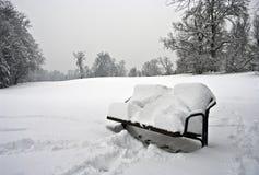 ławka biel Zdjęcie Royalty Free