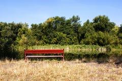 Ławka blisko rzeki Fotografia Stock