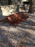 Ławka drewno Zdjęcie Royalty Free