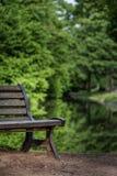 Ławka jezioro Obraz Royalty Free