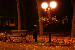 ławka latarniowa blisko Zdjęcia Stock