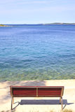 Ławka morzem Zdjęcie Stock