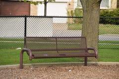 Ławka na boisku Zdjęcie Stock