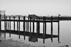 Ławka na doku Zdjęcie Stock