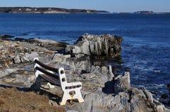 Ławka na morzu Zdjęcia Stock