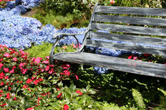 ławka ogród Fotografia Royalty Free