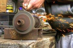 Ławka ostrzarz Fotografia Stock
