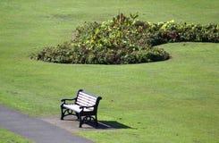 ławka siedzenie w parku, Rochester, Medway, Anglia Obrazy Stock