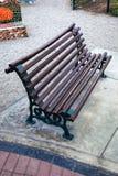Ławka w alei Obrazy Stock