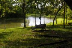 Ławka w centrala parku Obraz Royalty Free