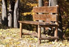 Ławka w jesieni Obraz Royalty Free