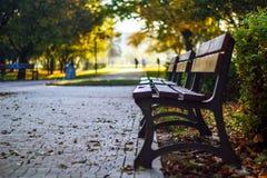 Ławka w jesieni Obrazy Stock