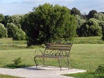 Ławka w parku Fotografia Royalty Free
