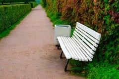 Ławka w pokojowym parku Obraz Royalty Free