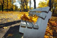 ławki drewniany parkowy Zdjęcia Stock