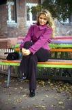 ławki dziewczyna Zdjęcie Stock
