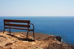 ławki morze Obraz Royalty Free