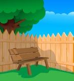 ławki ogrodzenie Fotografia Stock