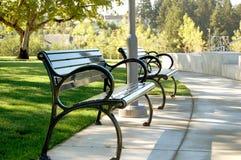 ławki parku Obrazy Royalty Free