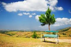 ławki pustego miejsca krajobraz Fotografia Stock