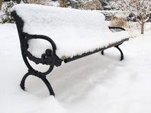 ławki zima Zdjęcie Stock