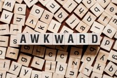 Awkward word concept stock images