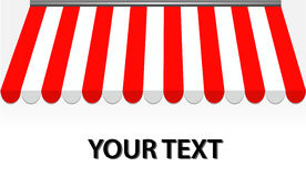 awning κόκκινο storefront Στοκ εικόνες με δικαίωμα ελεύθερης χρήσης