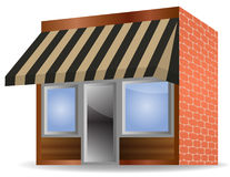 Awning. Illustration of Store Front Awning on white background Royalty Free Stock Images