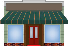 Awning. Illustration of different colored awning royalty free illustration