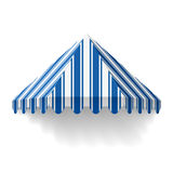 Awning. Vector illustration of an awning Stock Images