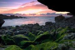 Awning beach. Samarra Beach, Sintra Cascais Natural Park, Portugal Royalty Free Stock Photo