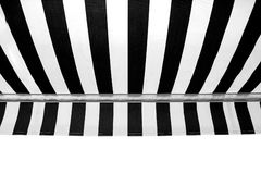 Awning. Black and white striped awning Royalty Free Stock Image