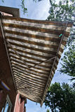 Awning. An awning covering the  deck Royalty Free Stock Photo