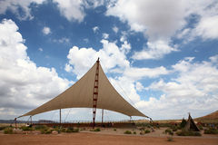 Awning on the deserts Stock Images