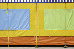 Awning fair. As fair closed, child fun Royalty Free Stock Image