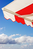Awning over bright blue sky Stock Photography