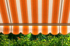 Awning. Protects from hot sun Royalty Free Stock Images
