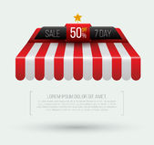 Awning Seven day sale banner roof Royalty Free Stock Image